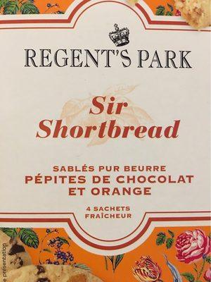 Shortbreads chocolat orange