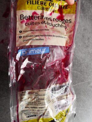 Betteraves rouges cuites et épluchées