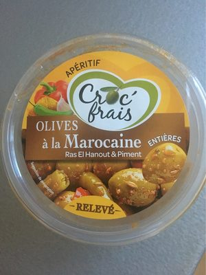 Olives à la Marocaine, CROC FRAIS, barquette