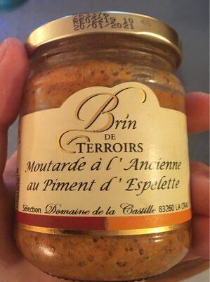 Moutarde à l'Ancienne au Piment d'espelette