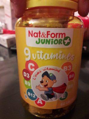 9 Vitamines - 60 Ours - Nat & Form Junior +