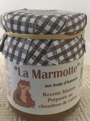 Confiture La Marmotte aux fruits d automne