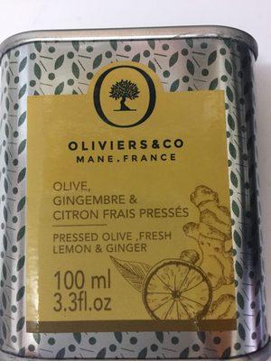 huile olive gingembre et citron frais pressés