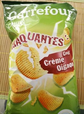 Chips craquantes gout Crème Oignon
