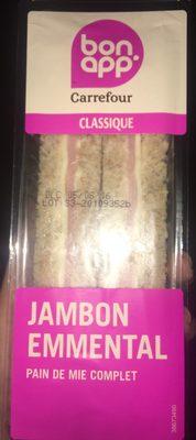 Sandwich Jambon emmental pain de mie complet