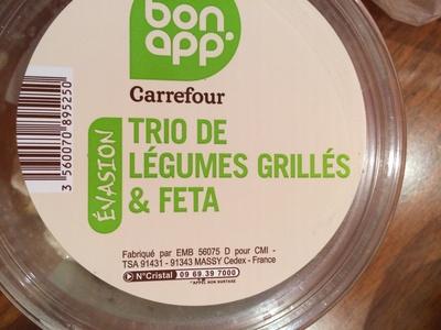 Trio de légumes grillés & feta