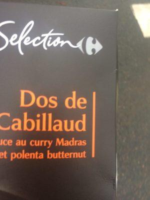 Plat cuisiné cabillaud polenta butternut Selection