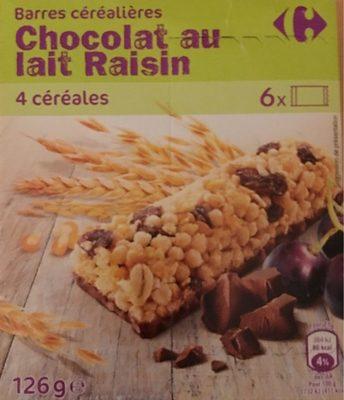 Barres céréalières Chocolat au lait Raisin