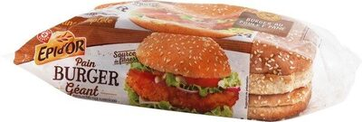 Pains complets pour hamburgers x 4