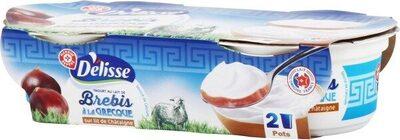 Yaourts à la grecque au lait de brebis sur lit de chataigne