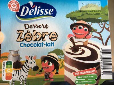 Dessert zebre chocolat-lait