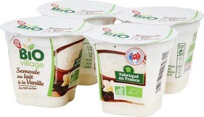 Semoule au lait à la vanille bio