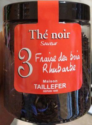 Thé noir 3 : saveur Fraise des bois Rhubarbe