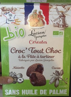Céréales Croc' Tout Choc à la pâte à tartiner Bio