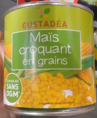 Maïs croquant en grains