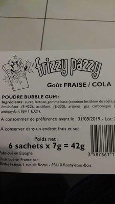 Mr Freeze fruit pops frizzy pazzy