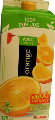 100 % Pur Jus orange (Avec Pulpe)