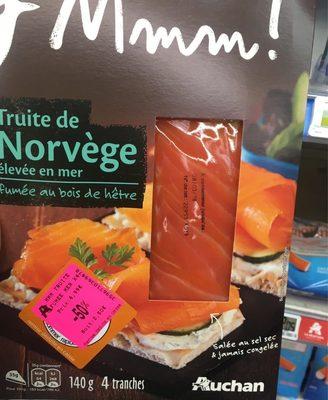 Mmm! truite de mer de Norvege fumee tranche x4