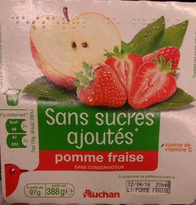 compote pomme-fraise sans sucres ajoutés