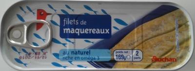 Filets de maquereaux au naturel