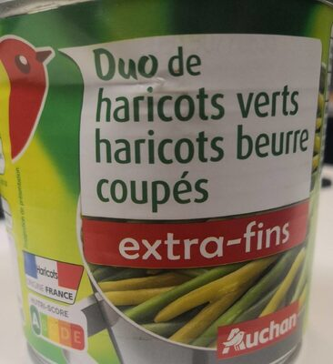 Duo haricots verts haricots beurre extra fins