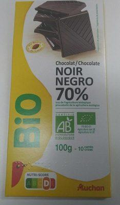 Chocolat noir 70% Bio