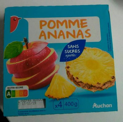 Pomme ananas sans sucres ajoutés