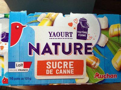 Yaourt nature Sucre de canne