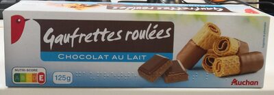 Gaufrettes roulées chocolat au lait
