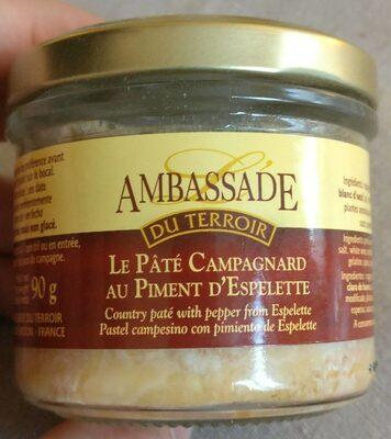Le Pâté Campagnard Au Piment D'Espelette