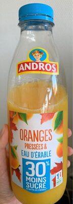 Oranges pressees et eau d'erable