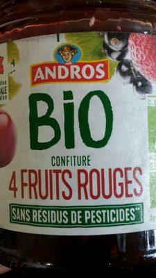 Confiture 4 fruits rouges bio