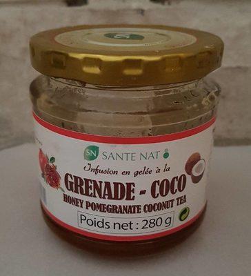 Infusion en gelée à la grenade et coco