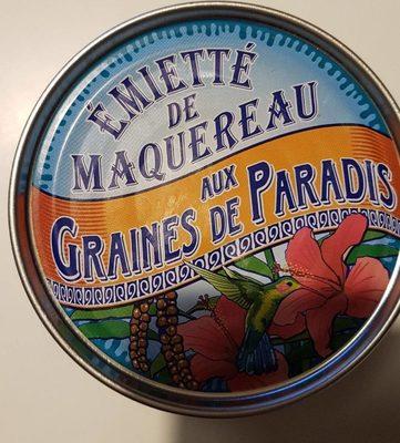 Émietté de maquereau aux graines de paradis
