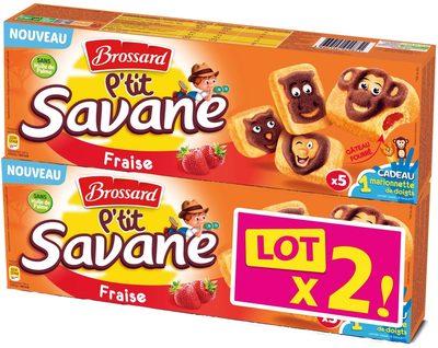 P'tit Savane Fraise Lot x2