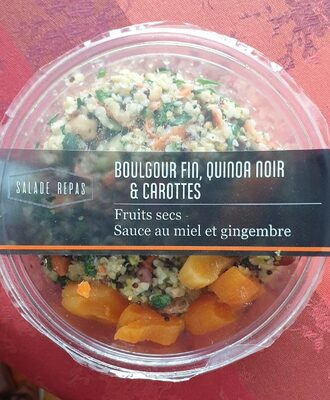 Boulgour fin, quinoa noir et carottes