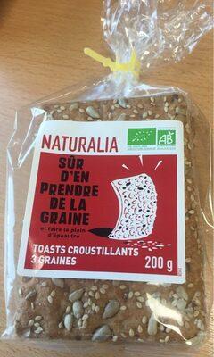 Toasts croustillants aux 3 graines