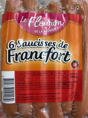 Saucisses de Francfort x6
