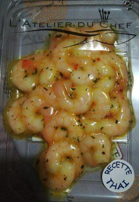 Queues crevettes cuites décortiquées Thai