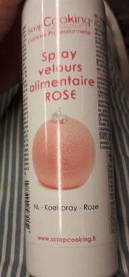 Spray velour alimentaire rose (ou autre)