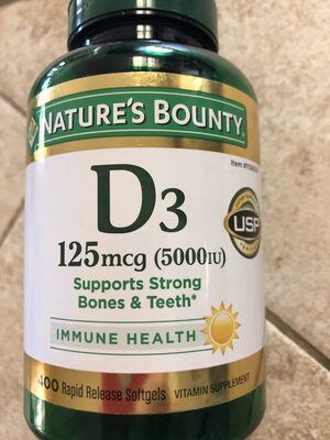 D. plantes Vitamine D3++ 1000iu Végétale Huile