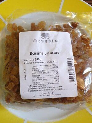 Raisins jaunes