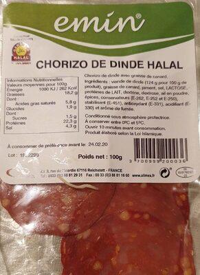 Chorizo de dinde halal