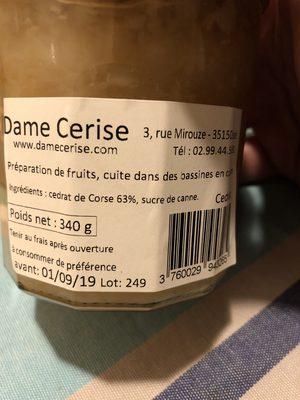 Confiture Cédrat de Corse