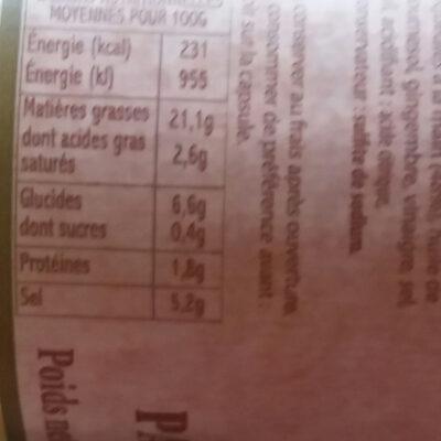 Pâte De Piment Végétarien Toco