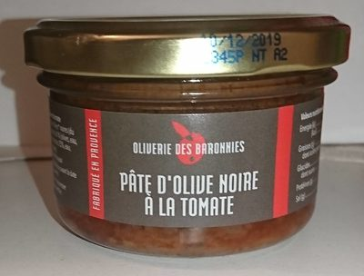 Pâte d'olive noire à la tomate