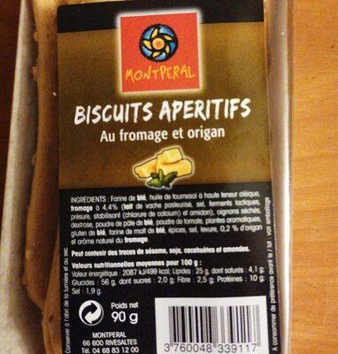 Biscuits Apéritifs au fromage et origan