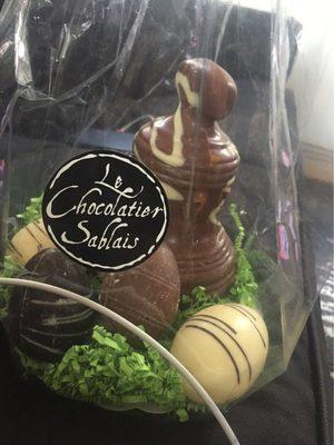 Assortiment trous chocolats