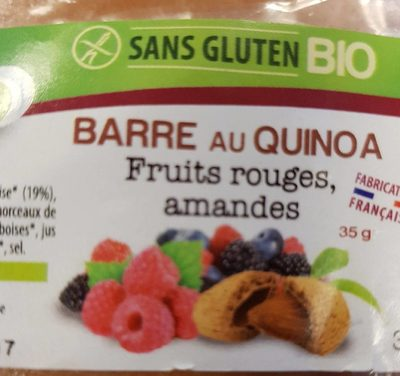 Barre au quinoa fruits rouges amande