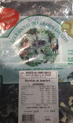 Ravioles au Beaufort